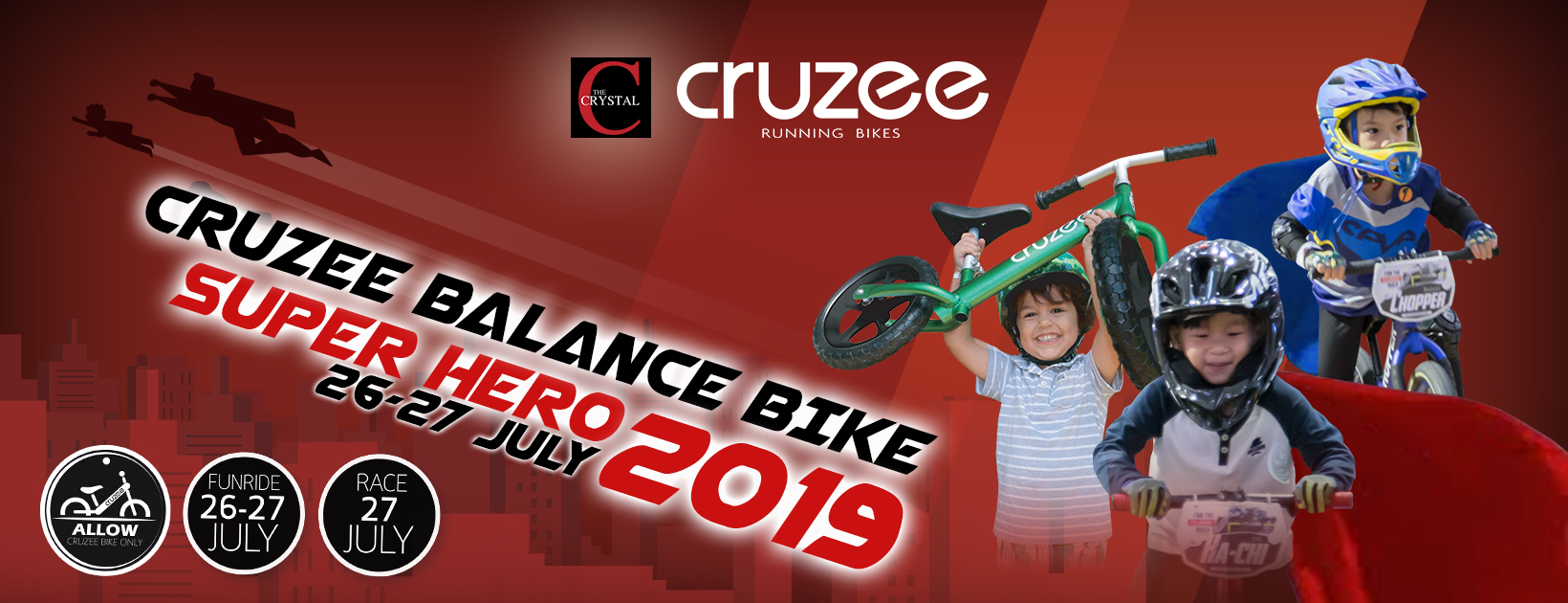 Super Hero Balance Bike Racing & Fashion Contest by The Crystal Ratchapruek